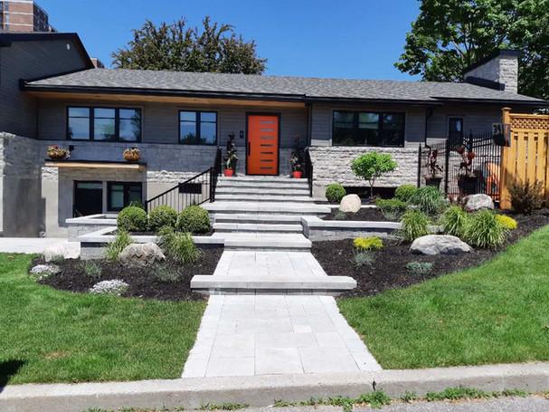 Modern House Landscaping Job