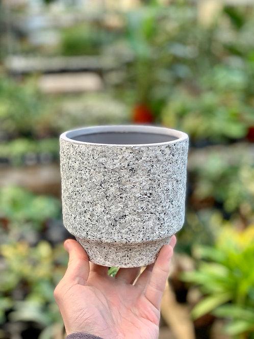 """4.5"""" Frisco Granular Grey Pot"""