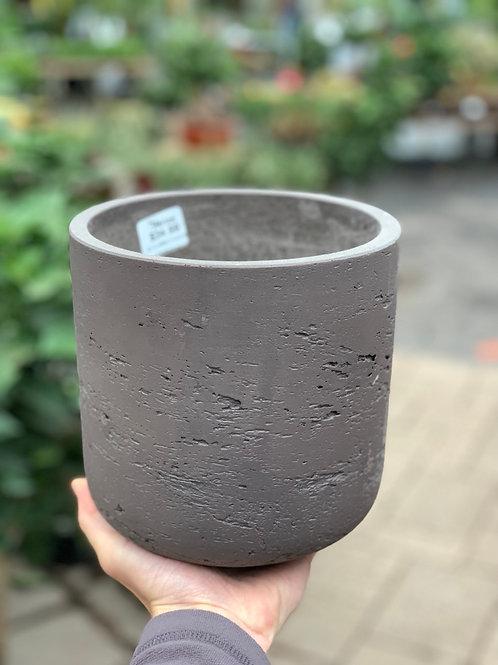 """6.5"""" Medium Classic Brown Stone Planter"""