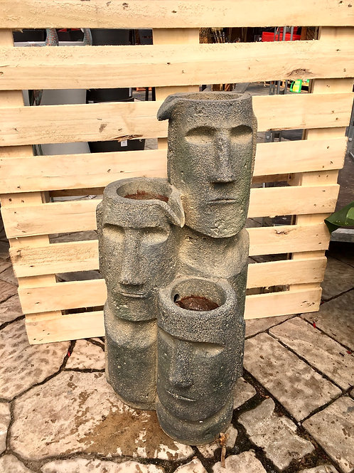 Easter Island Heads Fountain with LED lights