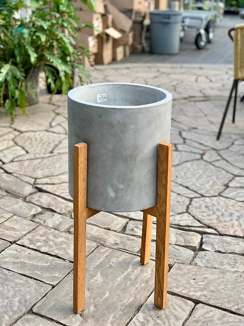 """10"""" Berlin Indoor/Outdoor Concrete Plant Stand"""