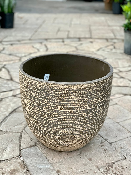 "14"" Carrie Brown Pattern Clay Pot"