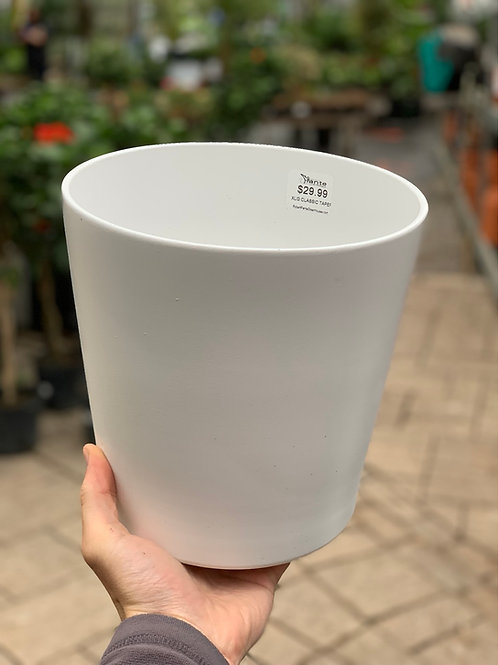 "8"" Classic White Taper Pot"