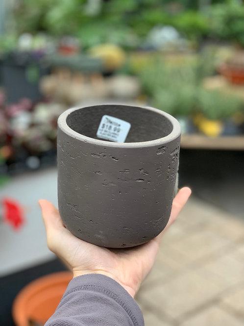 """4.5"""" Small Classic Brown Stone Planter"""