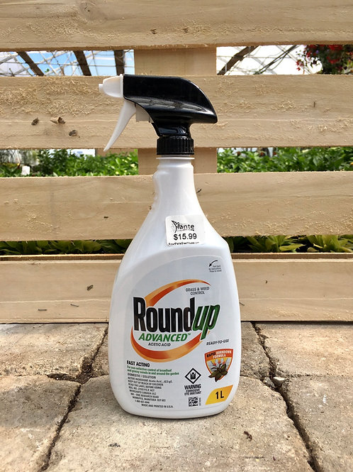 RoundUp® Advanced Ready-To-Use Grass & Weed Control Spray, 1-L