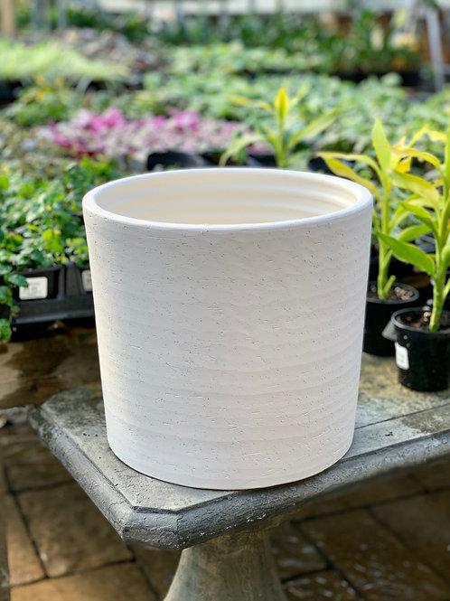"10"" Pilone Rustic White Clay Pot"