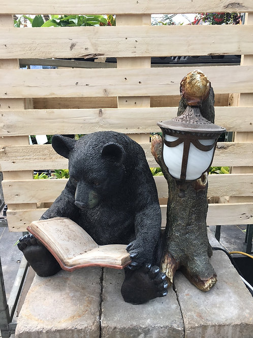 Bear Reading a Book Decorative Statue