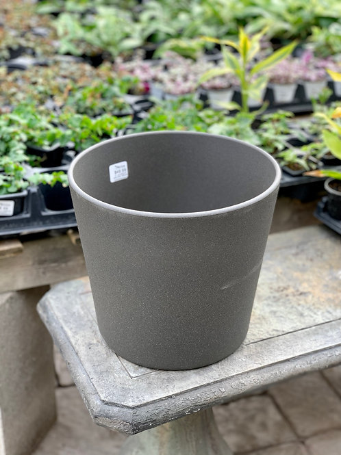 "10"" Lina Granite Dark Grey Ceramic Pot"