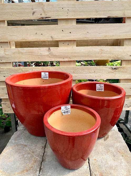 Red New Egg Smooth Pots
