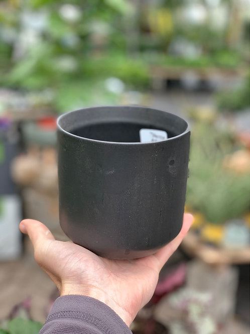 "4.5"" Kendall Black Ceramic Pot"