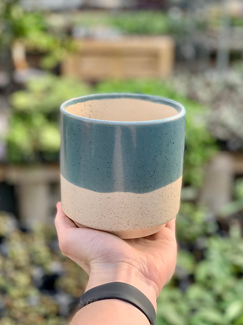 """4.5"""" Miguel Blue Ceramic Pot"""