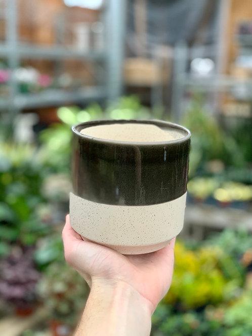 """4.5"""" Miguel Black Ceramic Pot"""