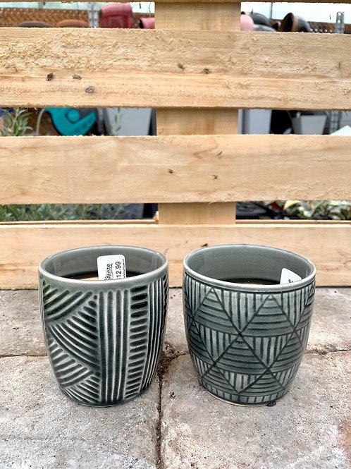 "3.5"" Aztek Assorted Ceramic Pot"