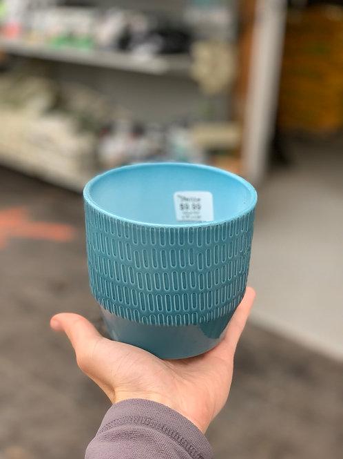 """4.5"""" Blue Nola Pot"""