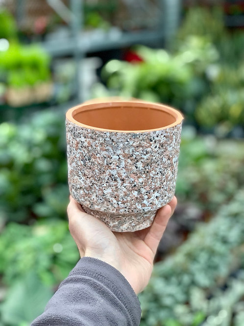 "4.5"" Frisco Granular Pink Pot"