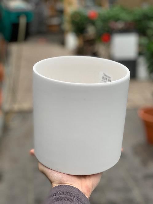 """6"""" Cercle White Matte Pot"""