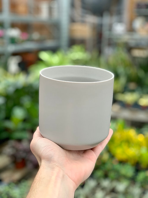 """4.5"""" Kendall Light Grey Ceramic Pot"""