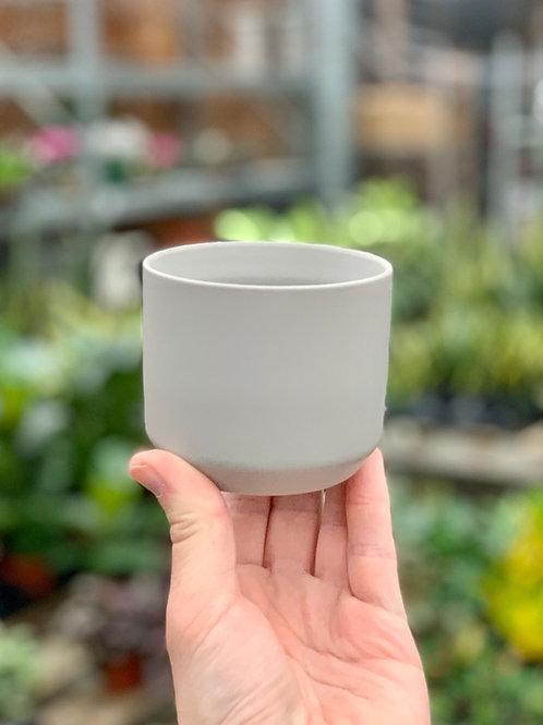 """3"""" Kendall Light Grey Ceramic Pot"""
