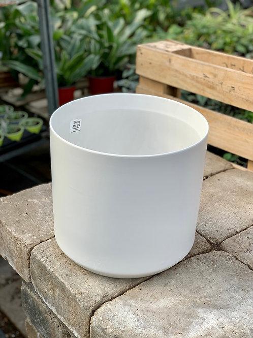 "10"" Kendall White Ceramic Pot"