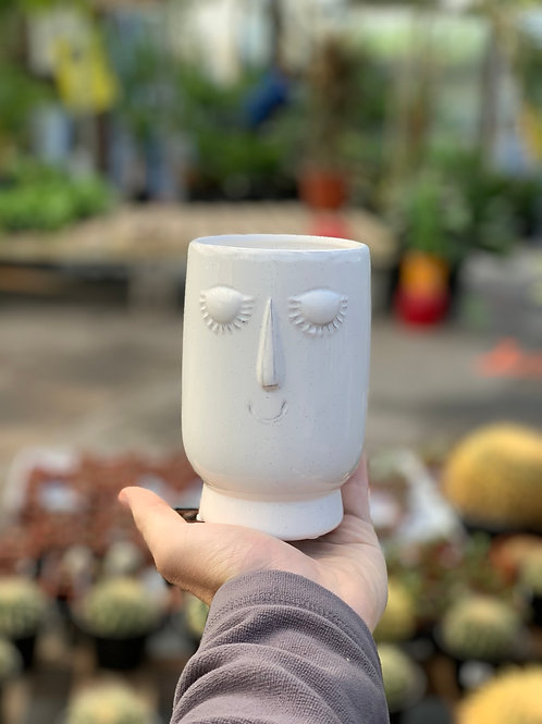 "3.5"" Tall Serene Face Pot"