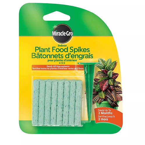 Miracle-Gro Indoor Plant Food Spikes 6-12-6 31 g Pack, 24 Spikes