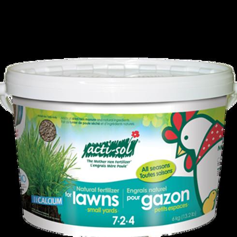 Acti-Sol Natural Fertilizer for Lawns, 6 Kg