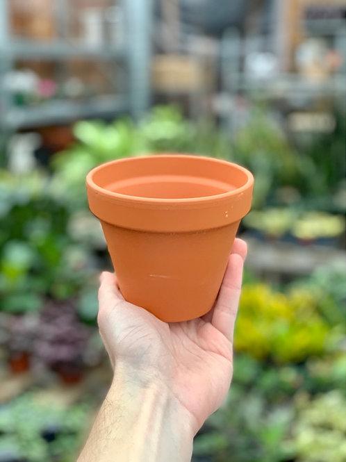 "4"" Clay Terracotta Pot"