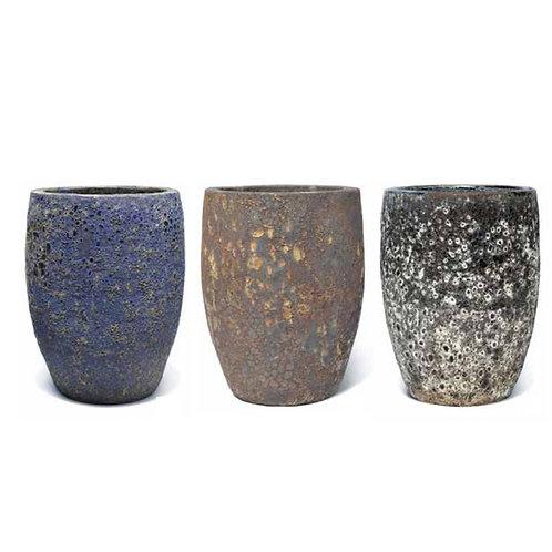 Tall Glazed Terracotta Lava Pots