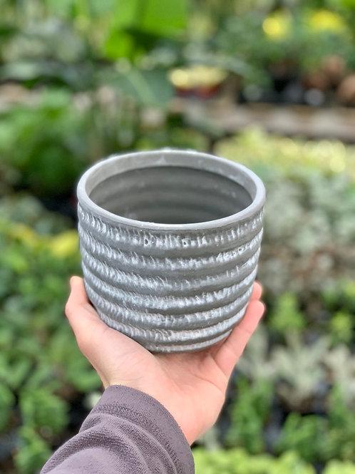 "5"" Denmark Rope Pattern Ceramic Pot"