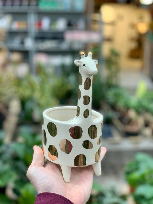 "4.5"" Giraffe Ceramic Planter"
