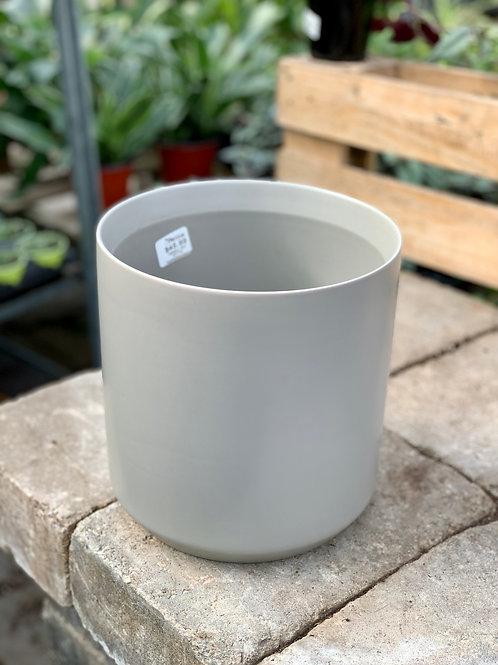 """8"""" Kendall Light Grey Ceramic Pot"""