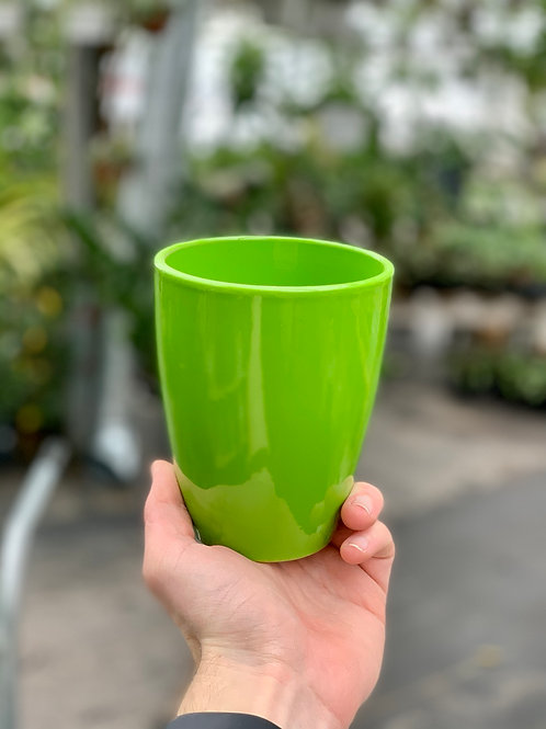 "3.5"" Cynthia Green Ceramic Pot"