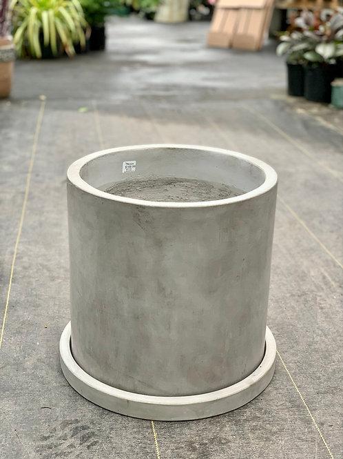 """14"""" Martha Grey Concrete Pot"""