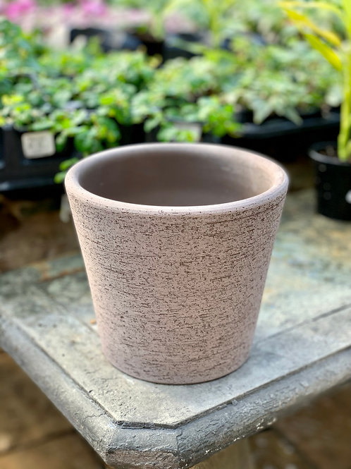 """6"""" Cilindro Rustic Brown Clay Pot"""