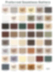 PSG Seamless Gutter Color Chart