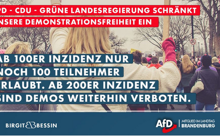 Erneut wurde in #Brandenburg Hand an unser aller #Demonstrationsfreiheit gelegt:
