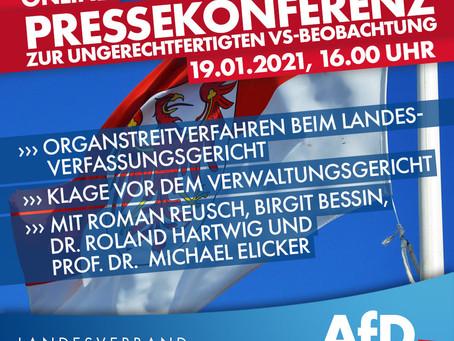 Der #AfD #Landesvorstand #Brandenburg, wird am Dienstag  Klagen einreichen!