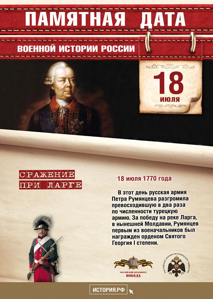 ПАМЯТНАЯ ДАТА ВОЕННОЙ ИСТОРИИ РОССИИ. ИЮЛЬ 2021 ГОДА.