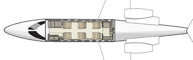 2005 Learjet40 SN 45-2038-Int-Map.png