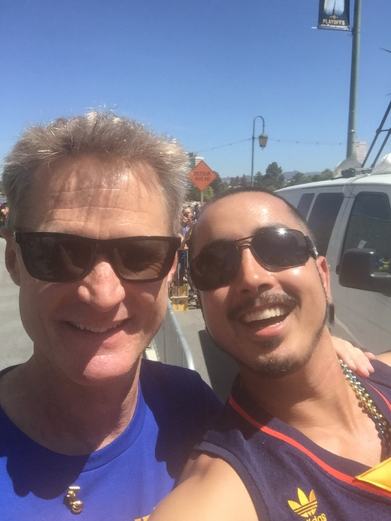 With Coach Kerr