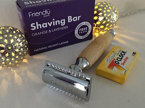 Razor Shave Set: Safety Razor & Shaving Soap