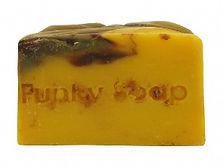 Handmade Chocolate Orange Soap unwrapped