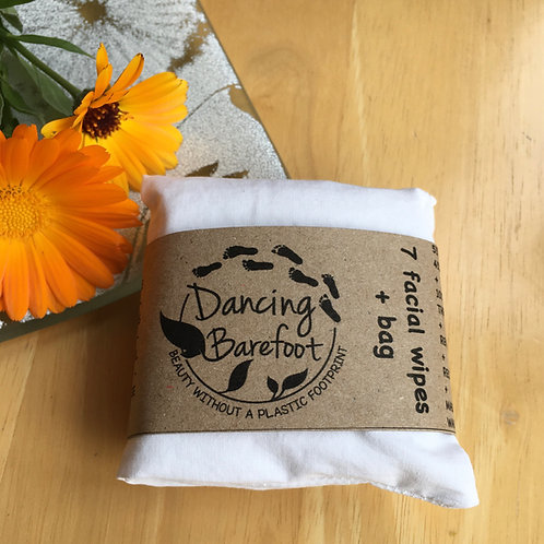 Reusable Facial Wipes: Pack of 7 & Laundry Bag