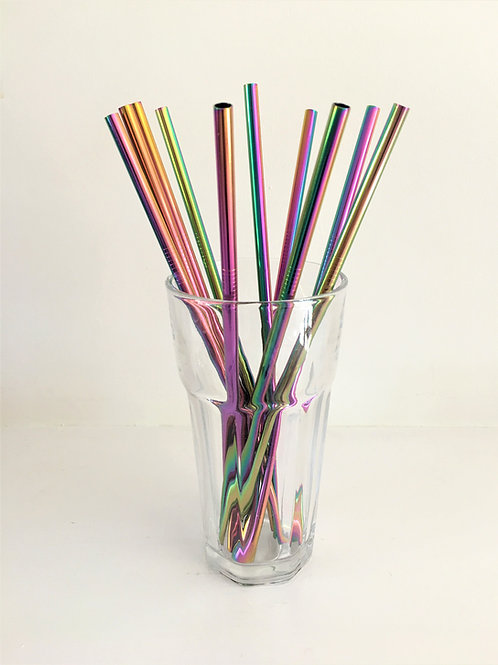 Reusable Stainless Steel Drinking Straws: Pack of 2