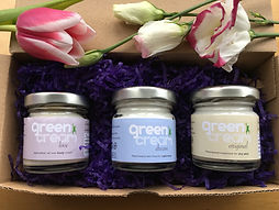 Plastic free face and body creams