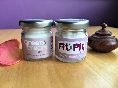 Love Skincare Gift Set: Body Lotion & Cream Deodorant