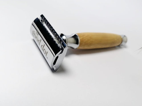 Safety Razor Natural: Stainless Steel with Bamboo Handle