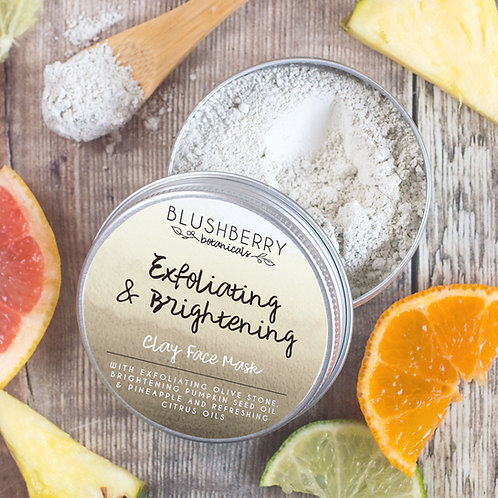 Blushberry Botanicals: Exfoliating & Brightening Clay Face Mask