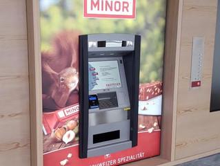 Chocolate vending machine for Raiffeisenbank in Davos