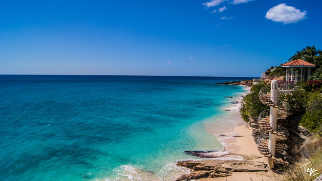 View of the Caribbean Sea - Sint Maarten